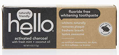 9. Hello Oral Care Charcoal Activated Teeth Whitening Toothpaste SLS Free