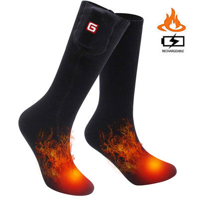 4. Svpro Electric Rechargeable Heated Socks Thermal Comfortable
