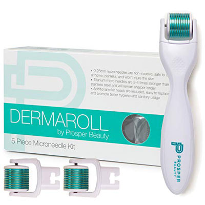 7. Prosper Beauty Replaceable 5-Piece Derma Roller Exfoliation