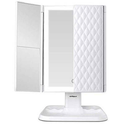 7. AirExpect 3-Color Vanity Mirror Portable with Lights Trifold