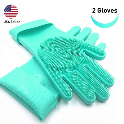 6. SolidScrub Magic Silicone Gloves for Dishes