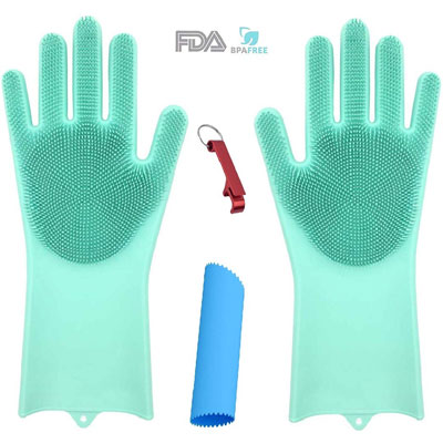2. OGGO Magic Silicone Dishwashing Gloves – 1 PAIR