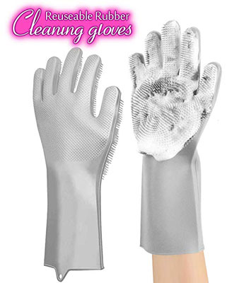 9. ANZOEE Reusable Silicone Dishwashing Gloves