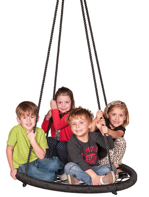 2. M&M Riderz Outdoor Tree Swing 600lb Adjustable Ropes