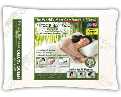 8. Ontel MBPF-MC6/2 Shredded Foam Pillow Vicose Bamboo White