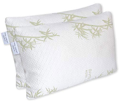 6. Hotel Comfort Set of 2 Ultra-Soft Pillow Bamboo Cover