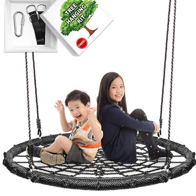 10. Khomo Gear 40 Inches Spin and Swing Set Hanging Kit