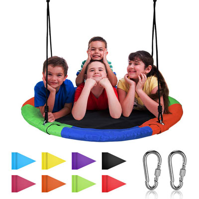 4. Joychoic Colorful Tree Swing 40'' 400 lbs Weight Capacity