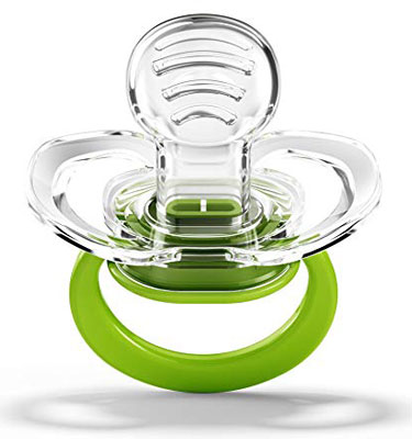 10. Smilo Orthodontic 3-Count Green Pacifier