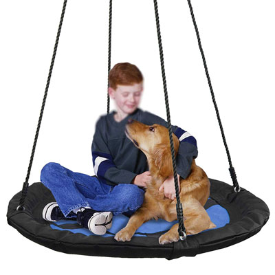 7. Super Deal 40-Inch Saucer Tree Swing Waterproof 360-Degree Rotate