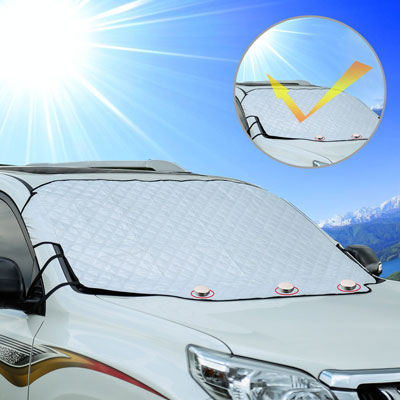 3. Cosyzone Sunshade Protector Windshield Snow Cover Magnetic Edges
