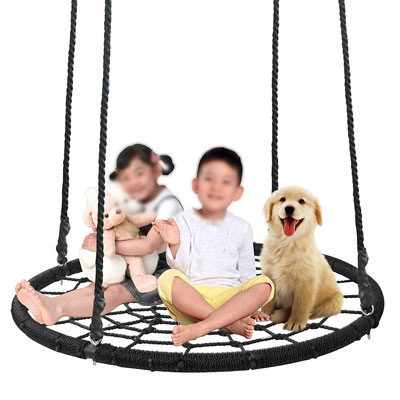 5. Super Deal 48-Inch Adjustable Tree Swing for Multiple People