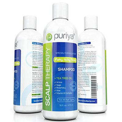5. Puriya Sulfate Free Anti Dandruff Shampoo with Tea Tree Oil