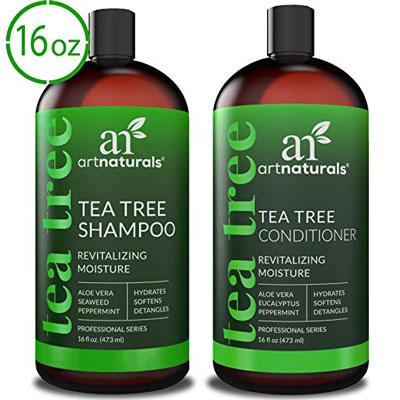 7. ArtNaturals Tea Tree Shampoo and Conditioner Set (2 x 16 Fl Oz/473ml)