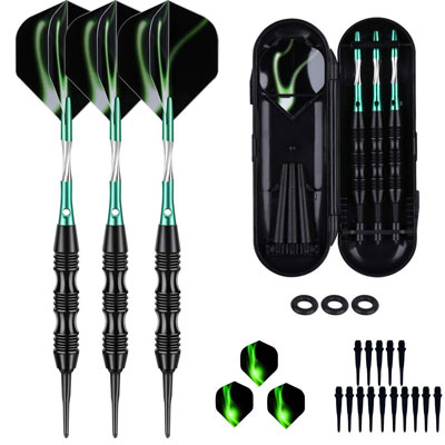 7. sanfeng Soft Tip Darts Set 18/20 Grams W/O-Rings