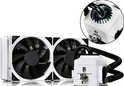 8. DEEPCOOL 240EX WHITE CPU Liquid Cooler