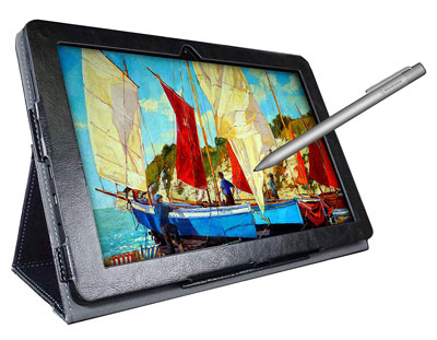 2. Simbans PicassoTab 10 Drawing Tablet and Stylus Pen