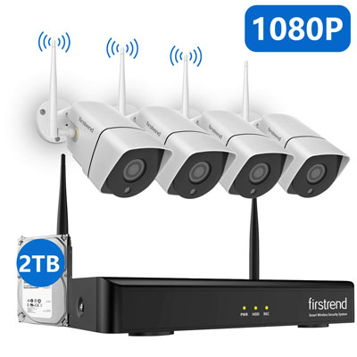9. firstrend 1080P Wireless Security Camera System