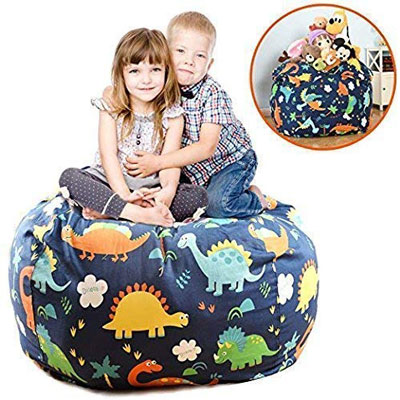 "7. BROLEX Extra Large 38"" Stuffed Bean Bag Chair Cover"