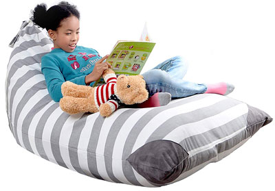 9. Mylola KIDS XL Stuffed Animal Storage Bean Bag