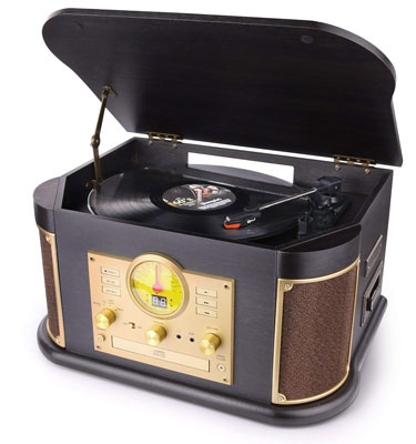 9. D&L Vintage Record Player