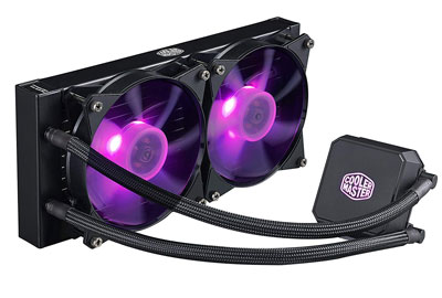3. Cooler Master LC240E RGB CPU Liquid Cooler (MLA_D24M_A18PC_R1)