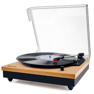 8. Popsky 3-Speed Bluetooth Record Player with Speaker