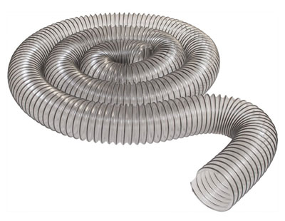 "7. Peachtree Woodworking Supply 4"" x 10' Ultra-Flex Clear PVC Hose"