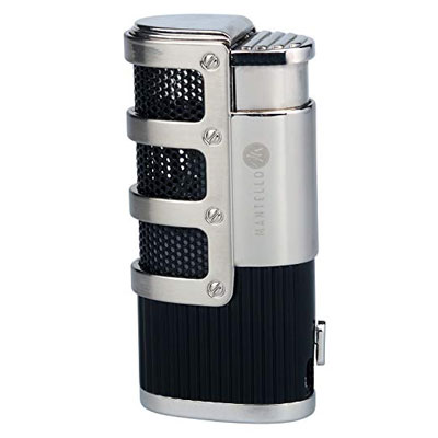 2. Mantello Butane Cigarette Torch Lighter with Cigar Punch Lighter