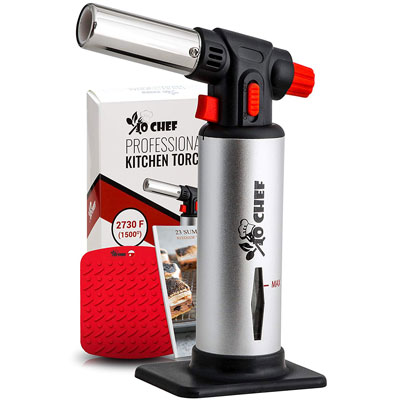 6. Jo Chef Kitchen Refillable Butane Torch