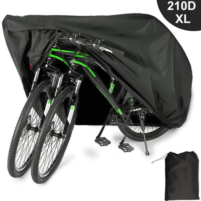 6. EUGO Bike Cover for 2 or 3 Bikes