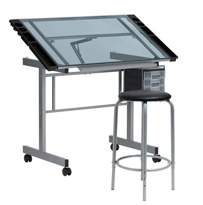 2. SD STUDIO DESIGNS 2 Piece Vision Modern Drafting Table