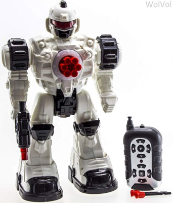 4. WolVol 10 Channel Remote Control Robot Police Toy (Large Version)