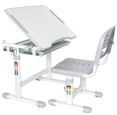 5. VIVO DESK-V201G Height Adjustable Desk and Chair Set