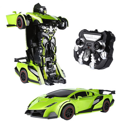 9. SainSmart Jr. Green Transform Car Robot
