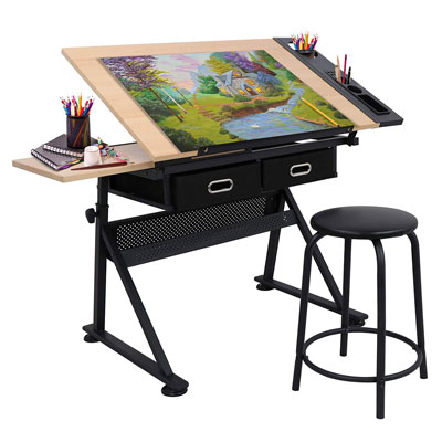 8. Nova Microdermabrasion Adjustable Height Drawing Table