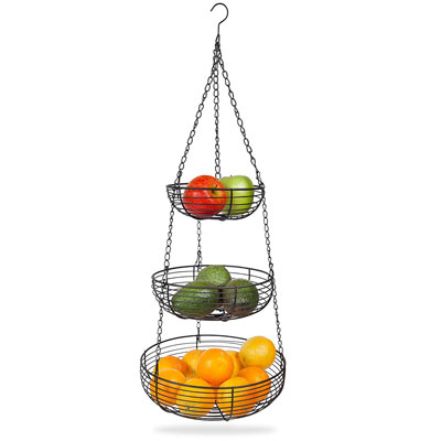 4. Home Intuition 3-Tier Hanging Basket Heavy Duty Wire