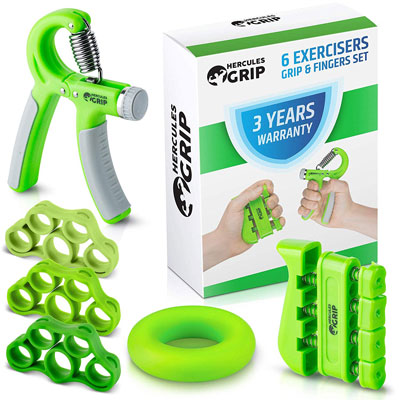 7. HerculesGrip Hand Grip Strengthener Workout Kit
