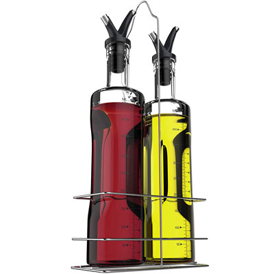 8. Vremi 17 oz Olive Oil and Vinegar Dispenser Set