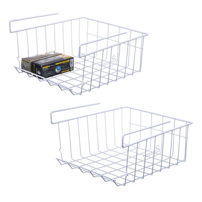 10. NoRi Stackable 2-Pack Hanging Wire Basket