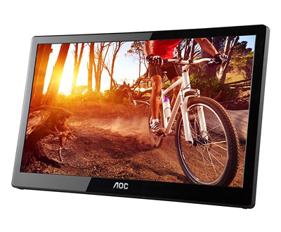 1. AOC e1659Fwu 15.6-Inch Portable LED Monitor w/Case