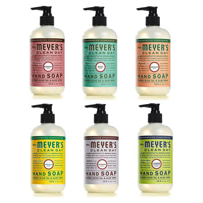 5. Mrs. Meyers Clean Day 12.5 oz Variety Pack Liquid Hand Soap (6 CT)