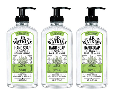 6. J.R. Watkins 11 fl oz 3 Pack Gel Hand Soap