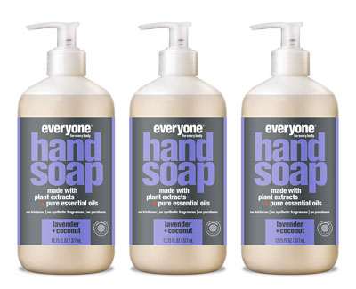 2. Everyone 3 Count Hand Soap, 12.75 Ounces