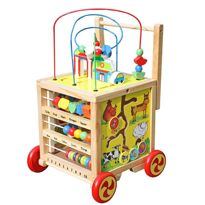10. Timy 5 in 1 Wooden Activity Center