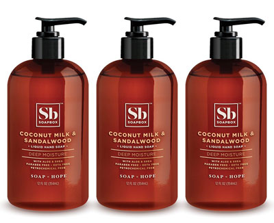 4. Soapbox Pack of 3 Liquid Hand Soap