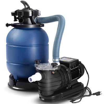 "4. Goplus 13"" Sand Filter Pump for Above Ground Pools"