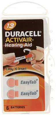 7. Duracell 1.45 V Hearing Aid Batteries Size 60 Pack
