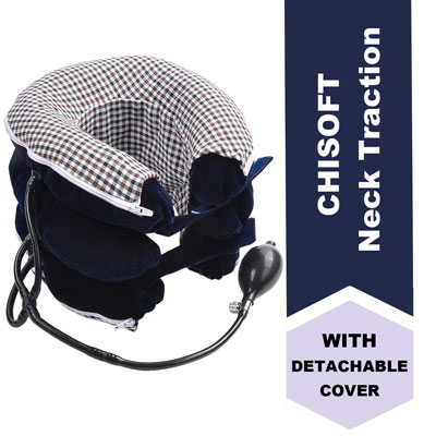 6. CHISOFT Cervical Neck Traction Device Detachable Washable Correct Posture