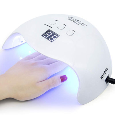 1. LKE 40W Gel UV LED Nail Lamp